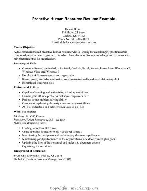 Human Resources Resume Objective by Downloadable Career Objective For Human Resources Human