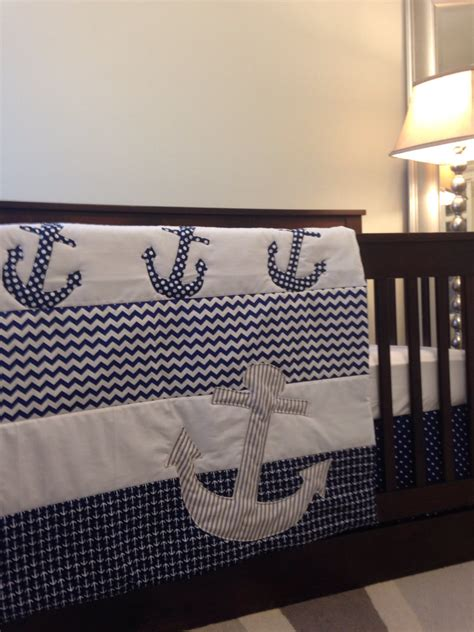 nautical crib bedding nautical baby bedding anchors on baby bedding by babyetiquette