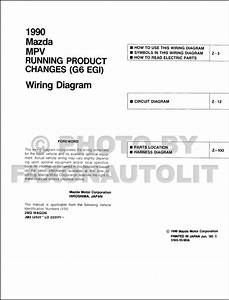 1990 Mazda Mpv Wiring Diagram Manual Original  G6 Egi  For