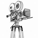 Camera Cinema Sketch Coloring Turbosquid sketch template