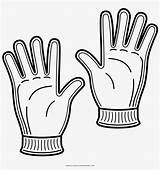 Gloves Coloring Winter Drawing Colorear Guantes Dibujo Pagina Nicepng sketch template