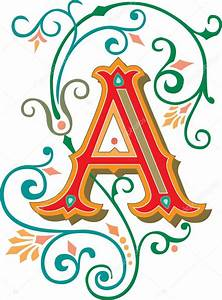 beautifully decorated english alphabets letter a stock With decorated letters ofthe alphabet