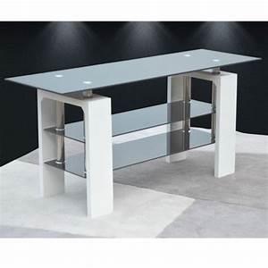 Tv 120 Cm : meuble tv blanc laqu 120 cm id es de d coration int rieure french decor ~ Teatrodelosmanantiales.com Idées de Décoration