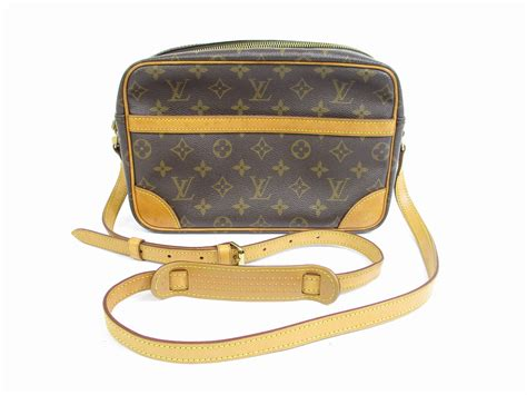 louis vuitton monogram leather brown cross body bag