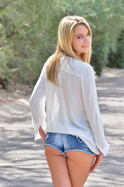 Kenna James In Jean Shorts