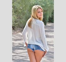 Kenna James In Jean Shorts