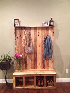 Custom, Made, To, Order, Reclaimed, Pallet, Wood, Entryway, Bench