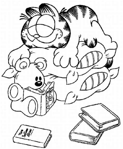 garfield coloring pages learn  coloring