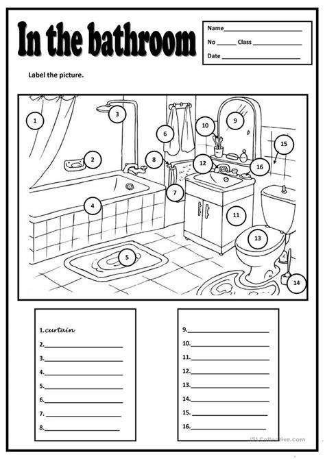 In The Bathroom Worksheet  Free Esl Printable Worksheets Made By Teachers