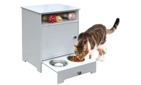 pet food cabinet wooden pet food storage cabinet groupon goods