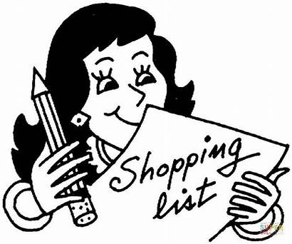 Shopping Coloring Grocery Pages Printable Before Tamil