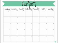 Cute Free Editable Printable Monthly Calendar Calendar