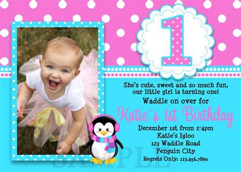 souvenir ulang tahun anak printable birthday invitations penguin