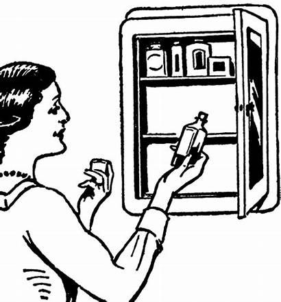 Medicine Cabinet Clipart Clip Bathroom Furniture Graphics