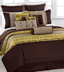 phoenix home khloe full 12 piece comforter bed in a bag set yellow brown ebay
