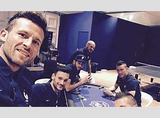 Yohan Cabaye and France teammates show off their poker