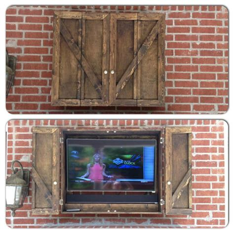 outdoor tv cabinet diy woodworking projects plans