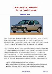 1997 Ford Festiva Service Manual
