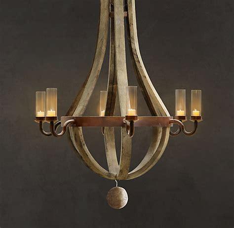 barrel chandelier lighting outdoor wine barrel chandelier