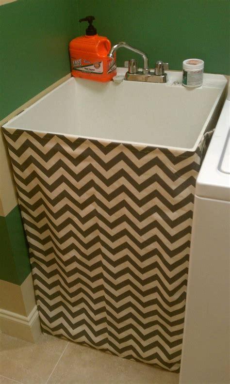 Utility Sink Skirt Pattern my chevron utility sink skirt beautiful home laundry