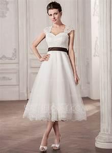a line princess sweetheart tea length tulle lace wedding With tea length sweetheart wedding dresses