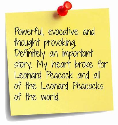 Forgive Peacock Leonard Quotes Please Friend Boyfriend