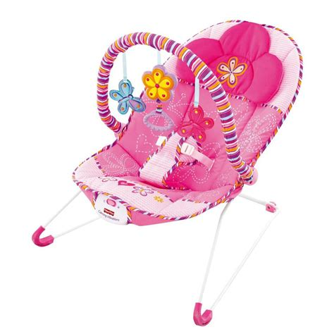 fisher price cosy pink baby bouncer vibrating