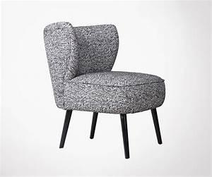 Fauteuil Crapaud Noir : fauteuil crapaud en tissu noir avec motifs design exclusif ~ Preciouscoupons.com Idées de Décoration