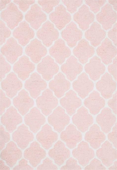 cute pink pattern rug  nursery baby clarkin