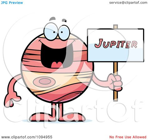 jupiter clipart clipart planet jupiter holding a sign royalty free
