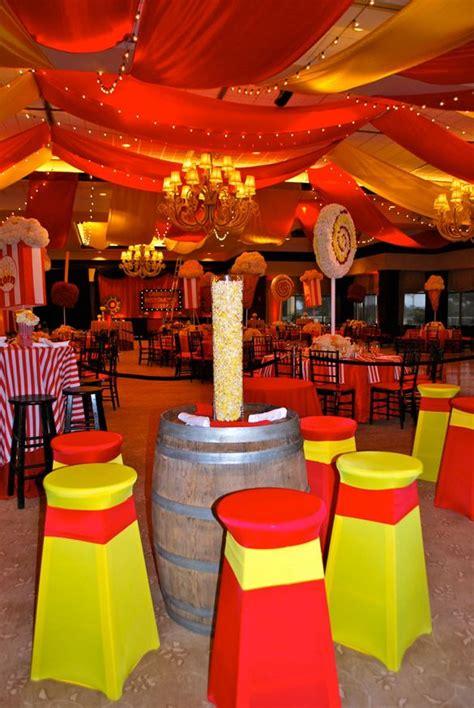 carnival wedding theme carnival theme wedding mitzvah popcorn centerpieces mazelmoments com bat bar mitzvah