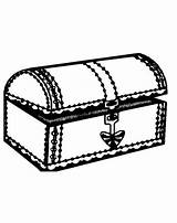 Treasure Coloring Chest Printable Nearly Opened Pages sketch template
