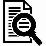 Glass Icon Symbol Zoom Paper Magnifier Text