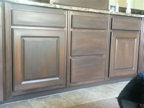 hometalk white cabinets painted to look like wood