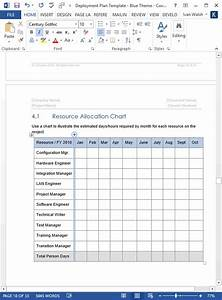 Deployment Plan Template  Ms Word   U2013 Templates  Forms