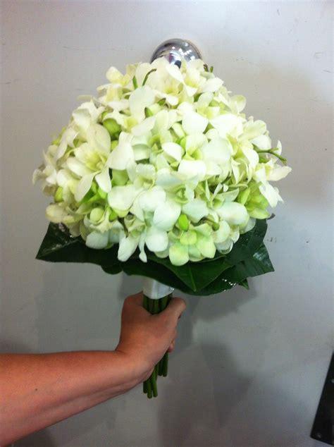 bridal bouquet  white singapore orchids orchid bouquet