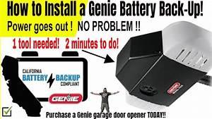 Genie Garage Door Opener Installation Instructions