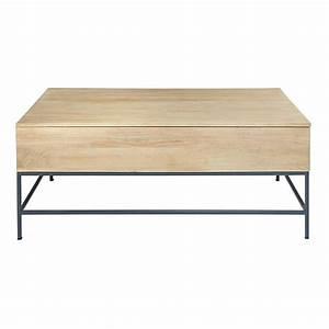 Table En Manguier : table basse en manguier wilson maisons du monde ~ Teatrodelosmanantiales.com Idées de Décoration