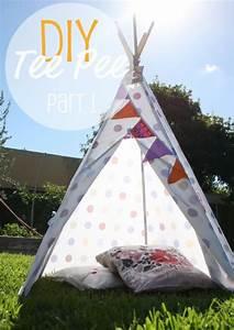 Fabriquer Tipi Enfant : tuto fabriquer un tipi avec un drap de r cup bricolage pour moi pinterest bricolage ~ Voncanada.com Idées de Décoration