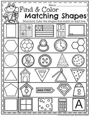 shapes worksheets planning playtime
