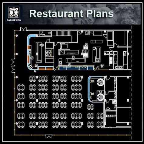 cuisine autocad restaurant blocks and plans cad design free cad blocks