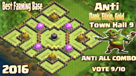 h9 top 2 farmig base elixir gold coc th9 top 2 farmig base elixir gold base town Coc