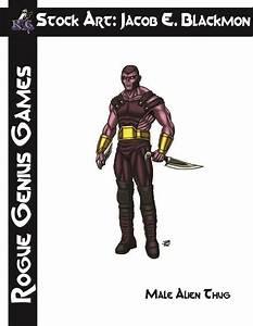 Stock Art: Blackmon Male Alien Thug - Rogue Genius Games ...