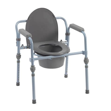 toilet chair for adults bedside commode potty chair handicap toilet seat with safety frame ebay