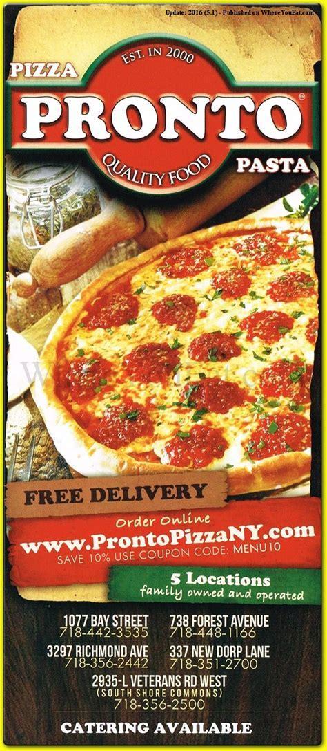 Pronto Pizzeria Restaurant in Eltingville, Staten Island