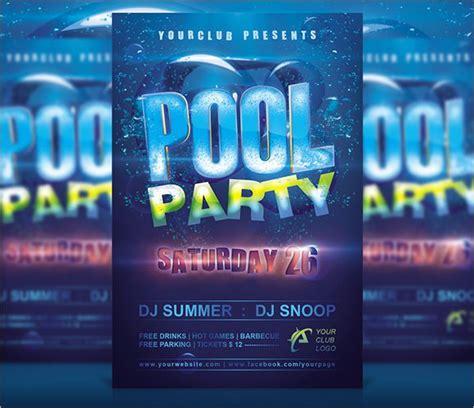 pool party birthday invitation templates