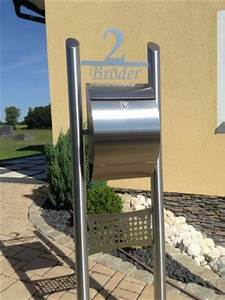 Briefkasten Freistehend Mit Hausnummer : edelstahlbriefkasten freistehend hausnummer edelstahl goldmann ~ Sanjose-hotels-ca.com Haus und Dekorationen