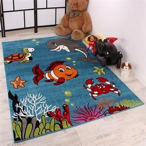 Teppich Grün Türkis Blau : kinderteppich clown fisch aqua kinderzimmer teppich in t rkis gr n creme pink kinderteppiche ~ Markanthonyermac.com Haus und Dekorationen