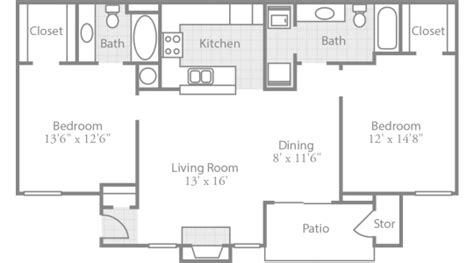 house plans with open floor plan 2 bedroom floor plans crowne park stylish apartments in