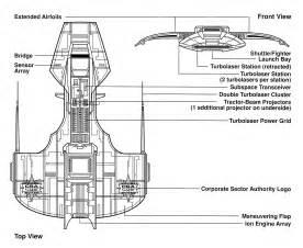 Star Wars Corvette Ships Blueprints